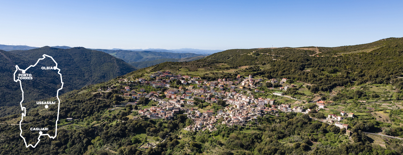 B&B Gennarcu. Panorama di Ussassai, Sardegna