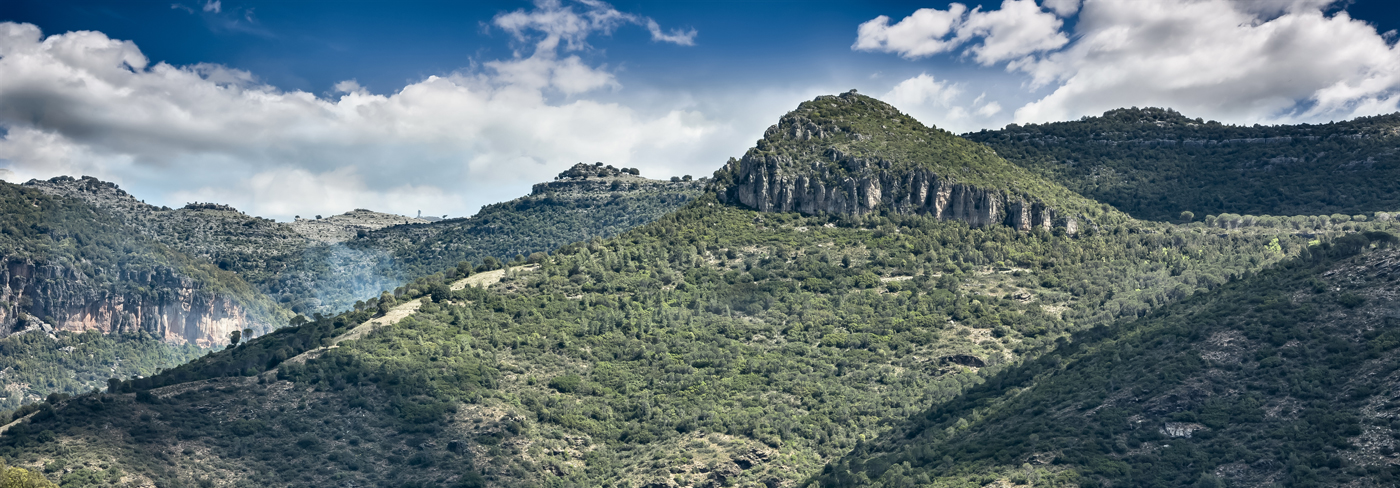 B&B Gennarcu. Panorama dei tacchi di Ussassai, Sardegna